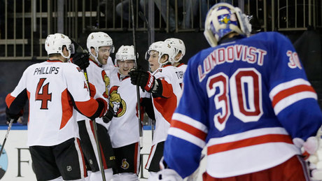 Photo of Sens' Late Goal Extinguishes Rangers' Streak