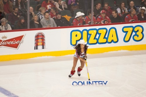 Alanna Calgary Flames Ice Girl.