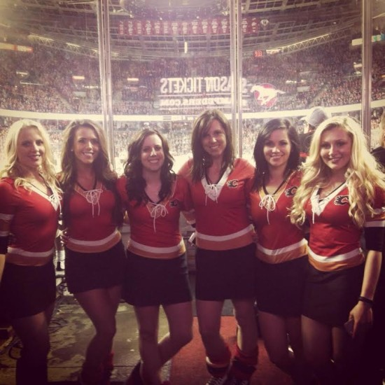 The Calgary Flames Ice Girl Crew