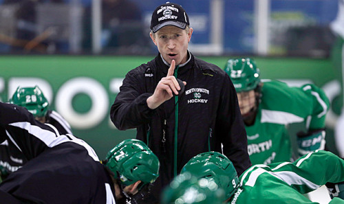 The Flyers brought in Dave Hakstol from the University of North Dakota to lea a squad on the younger side. (Associated Press)