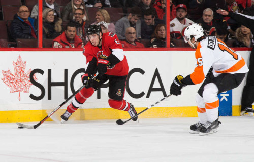 Photo of Ottawa Senators forward Bobby Ryan showing play-maker tendencies