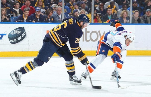 Vanek led the Sabres in scoring