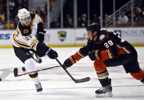 The Bruins said goodbye to Dougie Hamilton, but added former Ducks LW Matt Beleskey. (Lenny Ignelzi - AP)