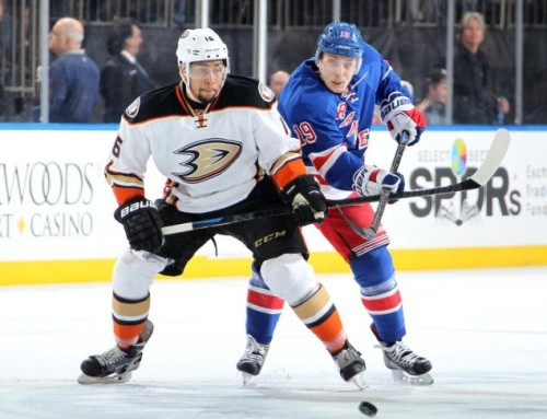 Emerson Etem was acquired from Anaheim in the Carl Hagelin draft day trade. (Jared Silber – NHLi via Getty Images)