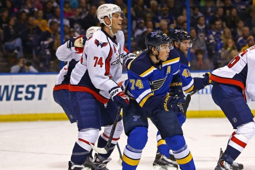 With John Carlson already wearing number 74, TJ Oshie will be wearing number 77 in the nation's capital. (Billy Hurst – USA Today Sports)