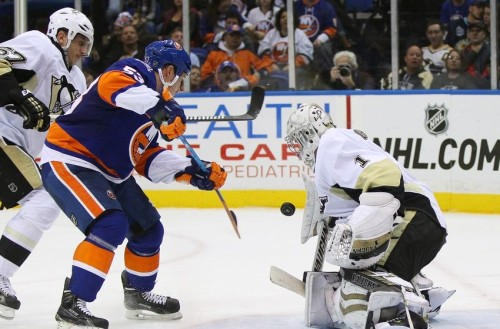 Thomas Greiss is the Islanders new backup goalie for 2015-16. (Andy Marlin – USA Today Sports)