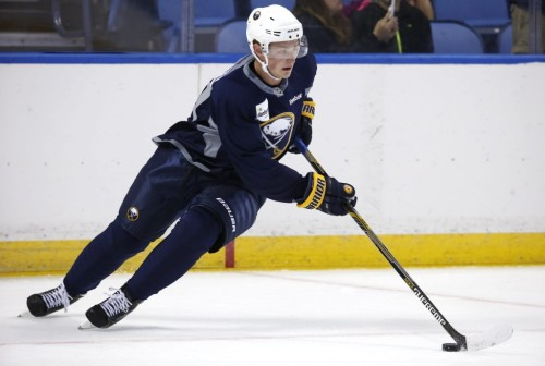 Jack Eichel is the cornerstone of the Sabres rebuild. (Harry Scull Jr. – Buffalo News)