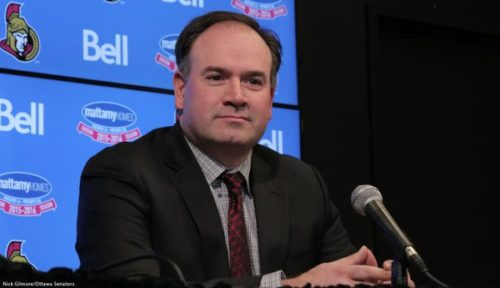 Photo of Pierre Dorion quick to make his mark with the Ottawa Senators